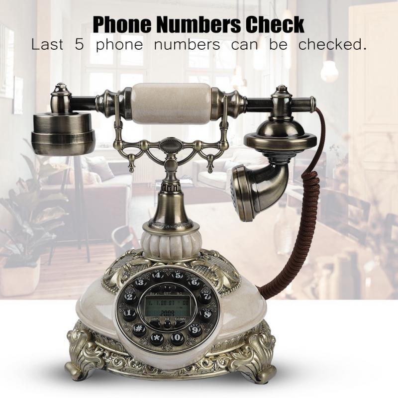 Europe style FSK/DTMF Vintage Antique Telephones home phone real time 38-group Call Records One-button Redial retro Telephone
