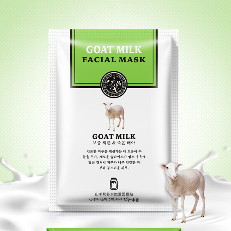 Han Chan Facial Mask Skin Care Natto/Goat Milk Moisturizing Facial Mask Silk Mask Anti Wrinkle Whitening Nourishing Facial Mask