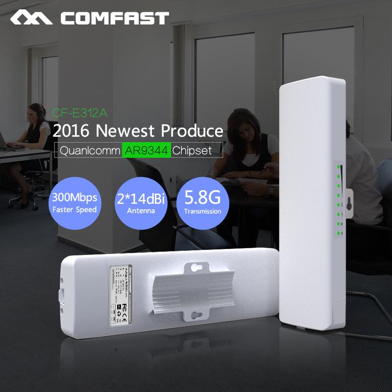 Prix pour 2017! 300 Mbps Extérieure CPE 5G wi-fi Ethernet Point D'accès Wifi Pont Sans Fil 1-3 K Gamme Extender CPE Routeur Avec POE WIFI Routeur