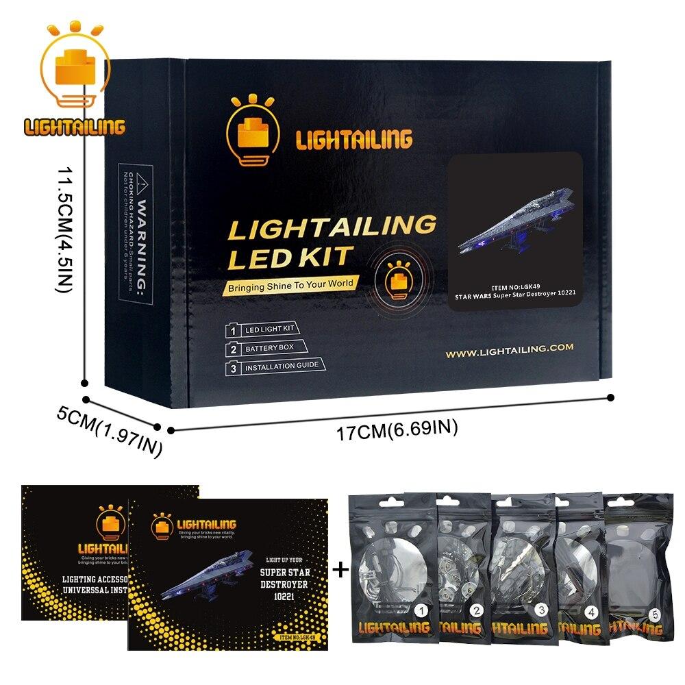 LIGHTAILING kit d'éclairage led Pour Star wars Super Star Destroyer Building Block Lumière Ensemble compatible avec 10221 Et 05028