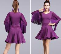 Adult/Children tassel Latin Dance Dress Women Girls/Lady Cha Cha/Rumba/Samba/Tango/Ballroom Dance Skirt Latin Performance Wear