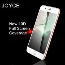 JOYCE nowy 10D ochronne szkło hartowane na ekran darmowa wysyłka dla iPhone 6s 7 8 Plus XR XS Max pełna ochrona telefonu szkło filmowe