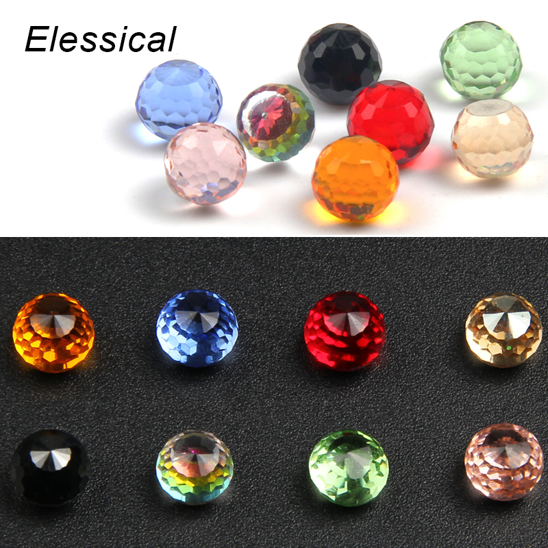ELESSICAL Clear Crystal Ball Rhinestones For Nails 3D DIY Manicure Tools Nail Art Decorations Polishing For Nails  WY905-WY912 5 colors fish scale nail art sequins mermaid hexagon glitter rhinestones for nails for diy manicure nail art tips decorations