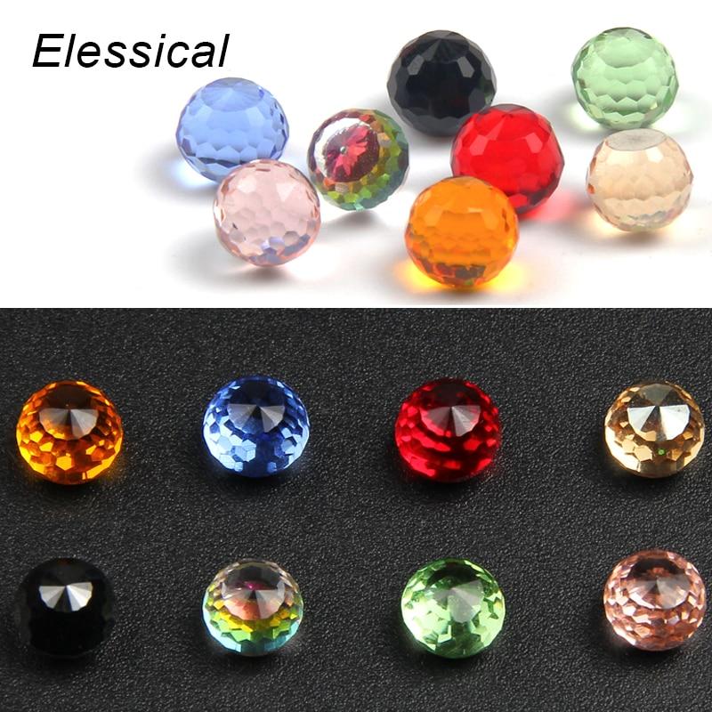 ELESSICAL Clear Crystal Ball Rhinestones For Nails 3D DIY Mas
