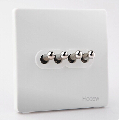 UK standard light switch,white and black wall switch, Fashion British Style,100~250V DIY toggle switch,4 gang 1 way / 2 way, free shipping new fashion carving patterns design electric wall light switch 1 gang 1 way from manufacturer supplier 100 250v m