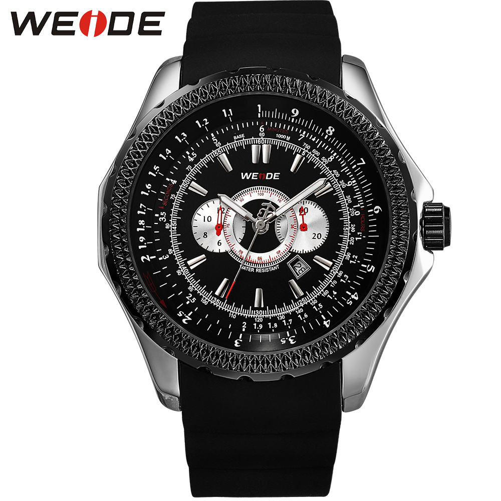цены  WEIDE Popular Brand Sport Complete Calendar Men Watches 3ATM Water Resistant Stainless Steel Back Quartz Movement Gifts For Men