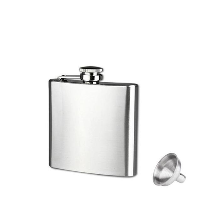 Brand New Liquor Drinkware 10 8 7 6 5 4 oz Stainless Steel Hip Flask Liquor Whisky Alcohol Cap Funnel Drinkware For Drinker
