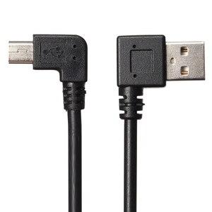 Image 2 - Leory 25cm 90 graus usb 2.0 macho a a mini usb 2.0 masculino b sincronização de dados cabo do carregador para a câmera mp3 gps hdd
