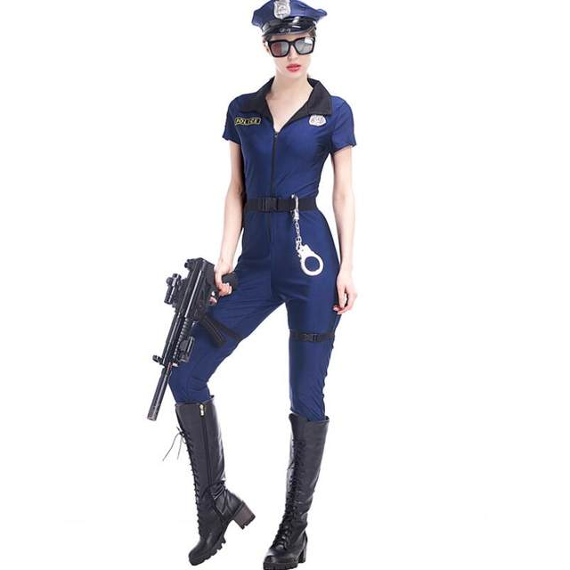 M-XL Hot Sexy Blue Police Costumes Adult Women Halloween Carnival Cosplay Cop Police Jumpsuits Uniform  sc 1 st  Aliexpress & Online Shop M-XL Hot Sexy Blue Police Costumes Adult Women Halloween ...