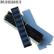 BUHESHUI Wholesale 0.3W 4V Solar Panel Solar Cell Polycrystalline DIY Solar Toy Panel Study Kits 107*20MM 100pcs Free Shipping