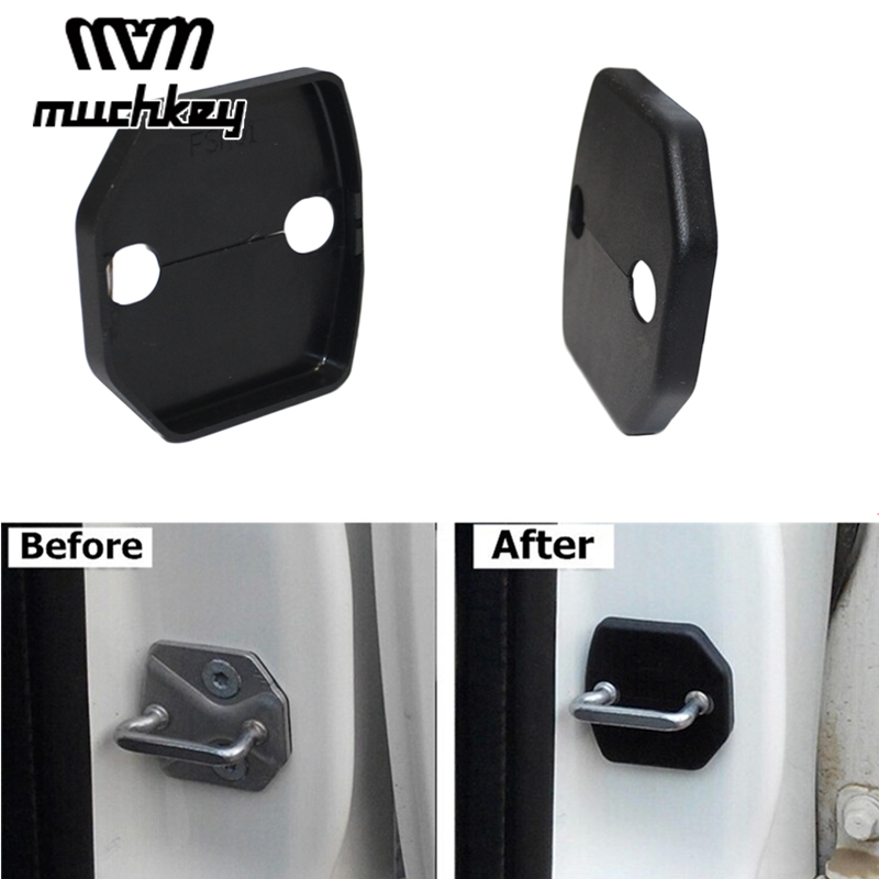 Car Door Lock Buckle Cover Refit Cover Decoration For <font><b>Volvo</b></font> S80L S40 <font><b>XC60</b></font> S60 S80 V60 C30 2014 2015 <font><b>2016</b></font> Car Styling 4Pcs image