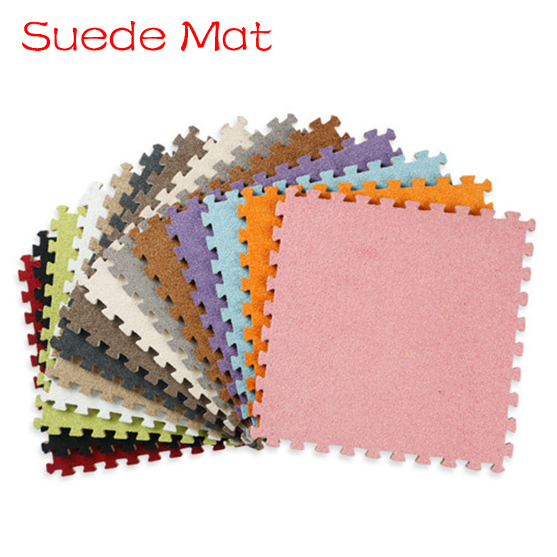10pcs EVA Foam Mats Play Puzzle Mat Floor Carpet Rug for Kid Multicolor Suede Protection ...