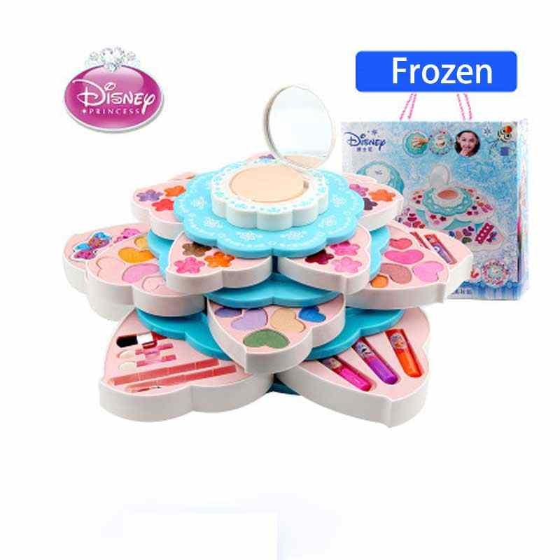 Disney Frozen kids makeup toys kids birthday gift Flower shape girls toys  cosmetics for girls children makeup set girls makeup