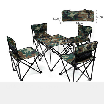 Outdoor Picnic Set Portable Folding Tables and Chairs for Camping  Folding Table and Chair Set Foldable Aluminum Table giantex portable outdoor furniture set table 4 chairs set garden camp beach picnic folding table set with carrying bag op3381re