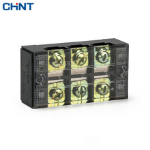 CHINT Double Row 3 Position Screw Barrier Terminal Block 45A Connection Terminal TB-4503  380v 30a dual row 12 position screw terminal barrier strip block