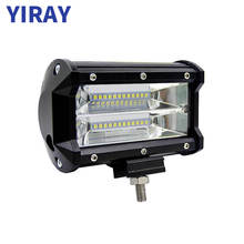 YIRAY 5 Inch 72W Combo LED Work Light LED Bar Light for motorcycles Driving Offroad Boat Car Tractor Truck 4x4 SUV ATV 12V 24V стоимость