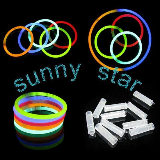 Free shipping wholesale 300pcs/lot Glow Sticks Bracelets+LEd led flashing lighting wand+party gifts