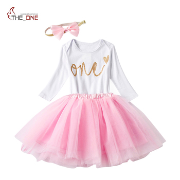 MUABABY Baby Girls Sets Triangle Romper Golden Sequins Bow Headband Mesh Birthday Skirt Three-Piece Letter Pullover Clothing