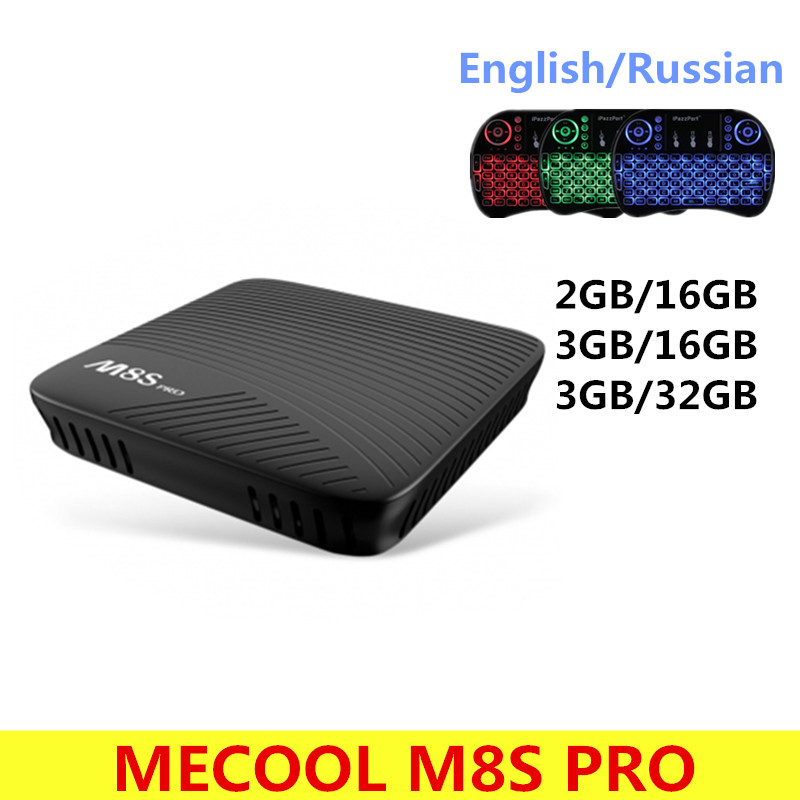 MECOOL M8S PRO Android 7.1 Smart TV Box BT 4.1 DDR4 Amlogic S912 2.0GHz Octa Core ARM Wifi 4K Full HD PK X92 X96 mi Set Top Box
