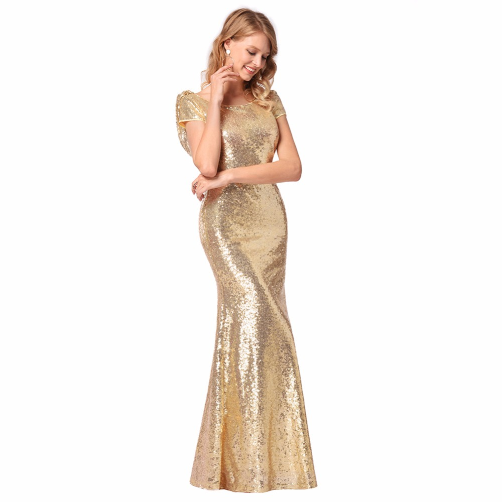 Maternity Photophy Angel-fashions Women's Shine Sequin Sexy Round Neck Beading Blinging Sequined Evening Dress Party Gown sexy plunging neck sleeveless sequined bodycon dress for women