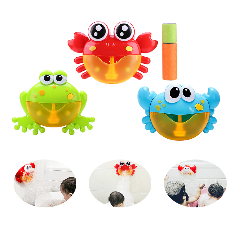 Baby Bath Toys Crab Bubble Maker Machine Bathroom for Kids Electric Automatic Crab Bubble Maker Children Bath Outdoor Toys baby toys