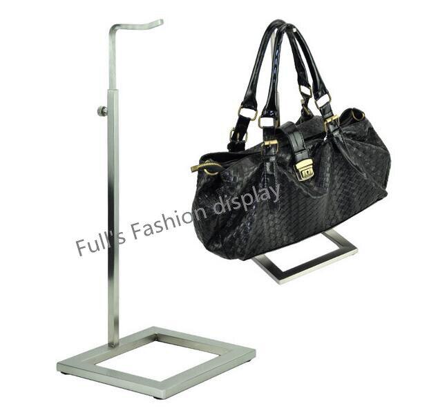 Whole 10pcs Matte Stainless Steel Handbag Holder Stand Hook Bag Showing Display Rack Free Shipping In Storage Holders Racks