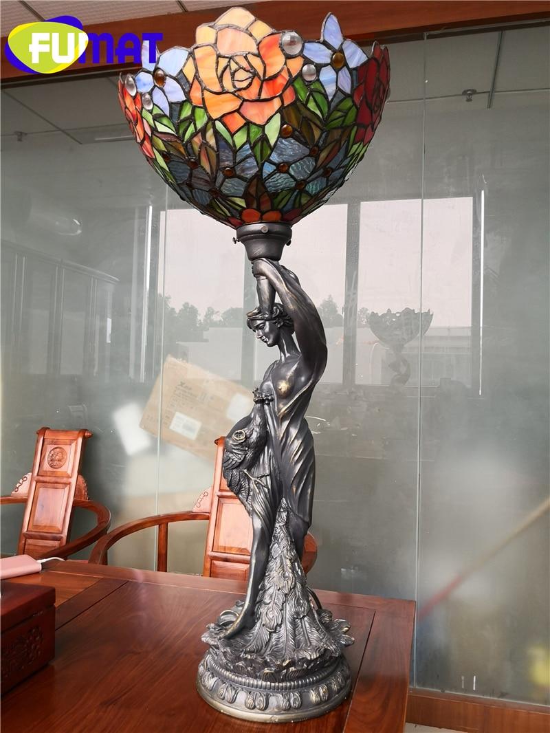 FUMAT Tiffany Goddess Desk Lamp lighting