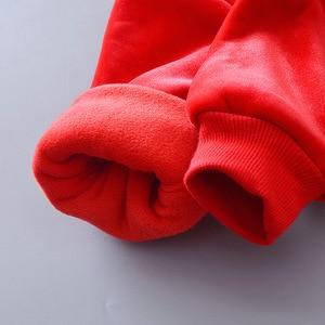Image 5 - 2019 חורף תינוק בגדי אדיבאג כותנה חג המולד חליפת שלג לעבות חם סווטשירט חליפת עבור ילדה ילד 3 יח\סט ילדים בגדים