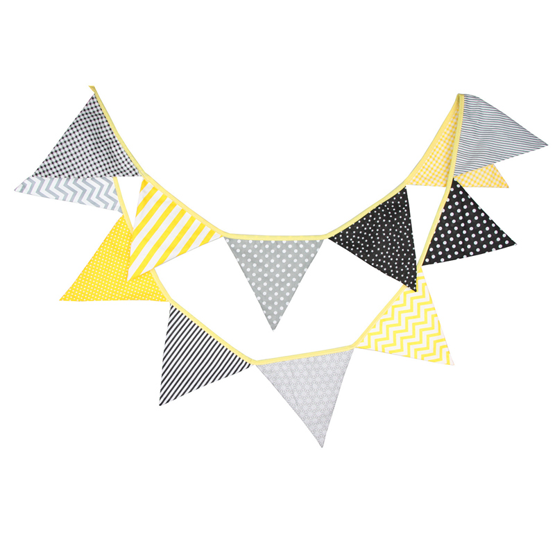 Camouflage Festival Garden Party Fabric Banner Bunting Flag Garland 3.2m