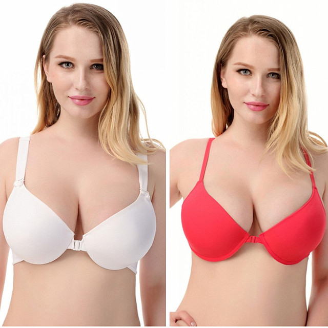 fef174dd505 New Arrivals Women Sexy Bra Strapless Cleavage Backless Bra Plus Size  Underwear Front Closure Push Up Bra H392
