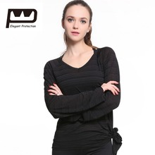ФОТО  EP Womens Long Sleeves T-shirt Sports Tops Loose Breathable Soft Yoga Top  Fitness Running Jogging Gym Black White 0209