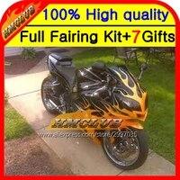 Body Gold Flames Black For Triumph Daytona 650 02 05 02 03 04 05 5 0