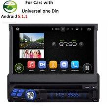 RK3188 Quad Core CPU Android 5.1.1 Universal Uno Din Sola 1 Din Coche Reproductor de DVD Multimedia Stereo Pantalla Capacitiva GPS Radio