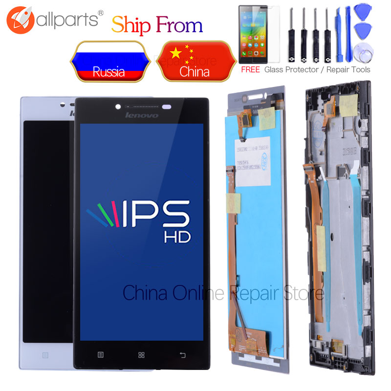 ORIGINAL 1280x720 5.0'' IPS LCD For LENOVO P70 Display Touch Screen Digitizer Replace Parts P70 A P70-A P70A For LENOVO P70 LCD