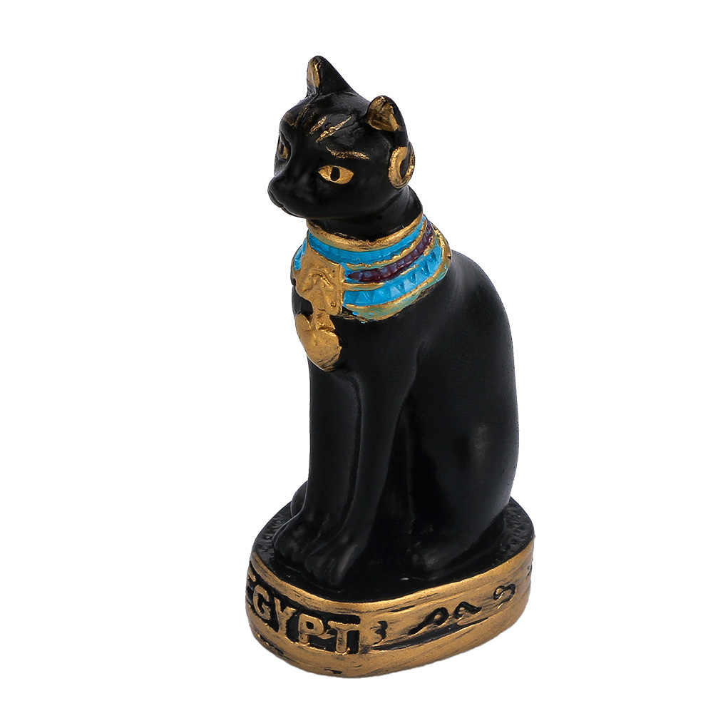 1 قطعة حار بيع 2 اللون الأسود/الأبيض آلهة البسيطة القط تمثال للديكور المنزل خمر الراتنج منحوتة المصري