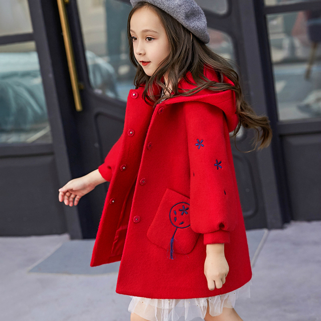 851eb78b9 Children Winter Clothing Coat For Girl Wool Down Jackets For Girls ...