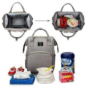 Image 3 - Bolsa de pañales para bebés, mochila para madres, bolsas de pañales, maternidad, lactancia, gran capacidad, impermeable, bolso de viaje para cochecito