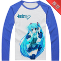 Free Shipping Mens Womens Hatsune Miku Long Sleeves T Shirt Kagamine Len Shirt Japan Anime VOCALOID Print T Shirt