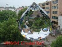 1Pcs/lot 100mm Clear Faceted Crystal Chandelier Parts Pendant Prisms Lighting Ball Suncatcher Wedding fengshui Home Decoration