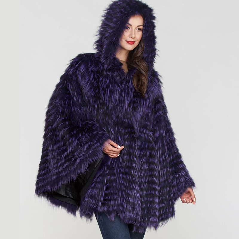 2019 BFFUR femmes réel fourrure renard manteau naturel fourrure manteau Ponchos peau entière rayé Capes couvert femelle hiver mode mince châle