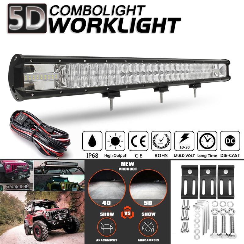 29 дюймов 810 Вт автомобиль 5D светодиодный свет бар светодиодный рабочий свет пятно Светодиодный прожектор заливающего света дальнего света ...