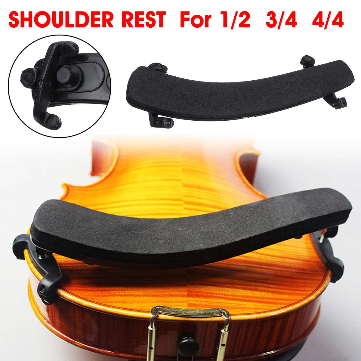 Violin shoulder sponge--Violin shoulder rest for 1//2-3//4 violins Brand new