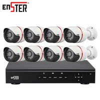 Enster 720P 1080P AHD 8CH Security Camera System POE Camera Security Surveillance Kit Outdoor 8CH Cctv