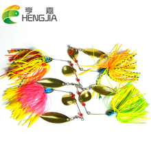 Registered Free Shipping 4pcs/lot Hard Spinner Fishing Lure Spinnerbait Shallow Water Pike Bass 17g/0.6oz Fishing Tackles HJ038