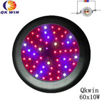 Super UFO 600W Led grow light 60x10W high power double chip led UV & IR hydroponics lighting system full spectrum
