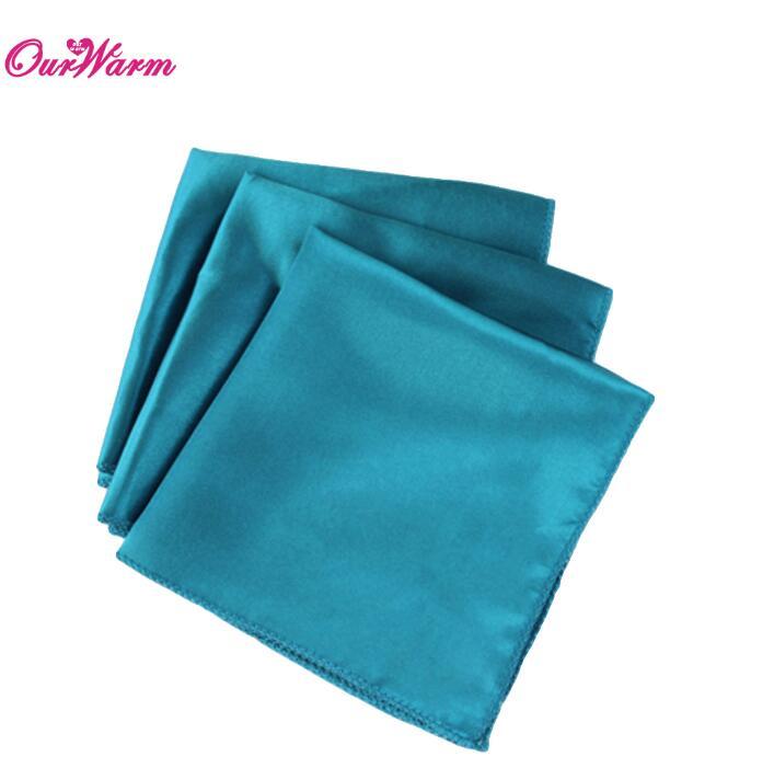 OurWarm 50 шт. атласная ткань салфетки для стола квадратная карманная салфетка для ресторана отеля банкета свадебного стола 30*30 см - Цвет: TBU