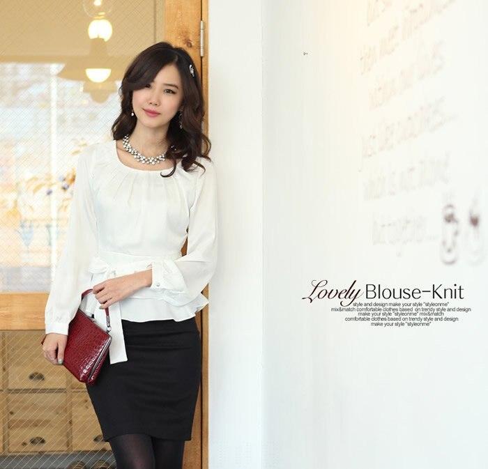 2bece5464965 New fashion women long sleeve blouses summer spring autumn dress ...