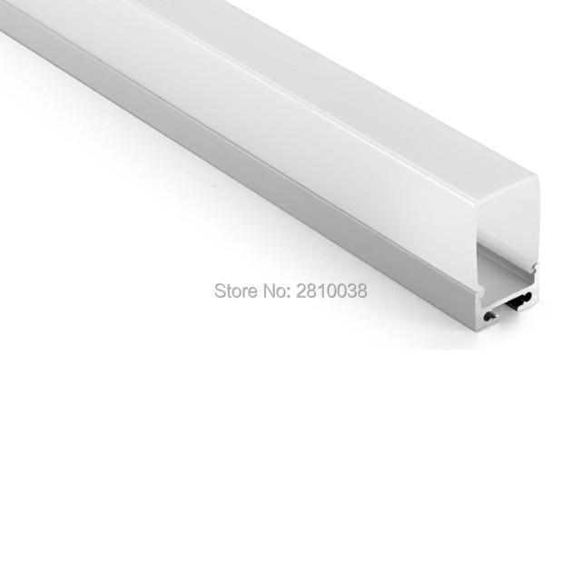 10X1 M Sets/Lot aluminium profielen voor led verlichting en ...