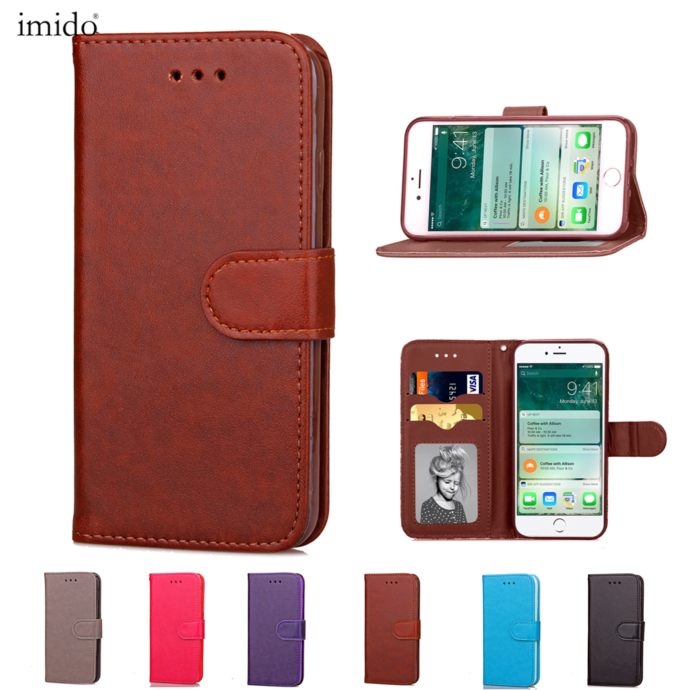 Crazy leather Case for iPhone 7 7 Plus Case Card Slot Back Cover for iPhone 8 8 Plus PU Leather Flip Stand Cover
