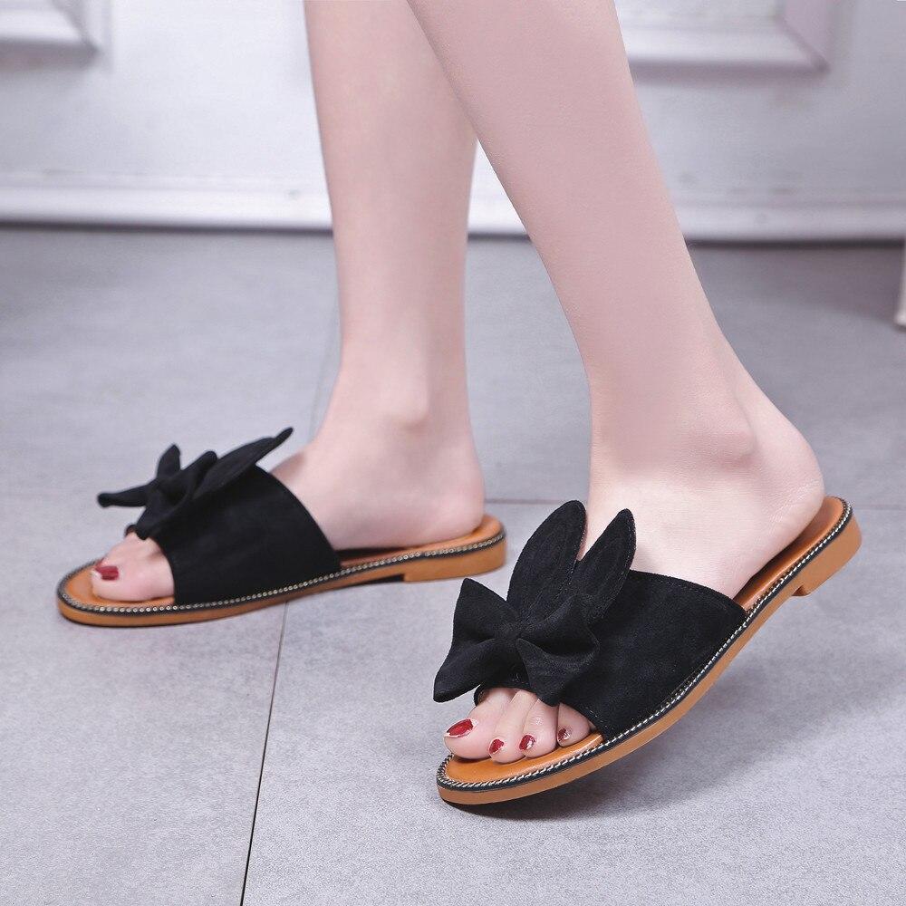 Las Fondo Beige Moda Sólido Sandalias Verano Mujeres Deslizador Plano Mujer Del Tacón Arco negro Playa De Bajo amarillo Zapatos 1qaa0x7